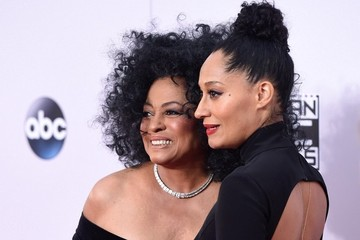 Diana Ross Tracee Ellis Ross Arrivals at the American Music Awards