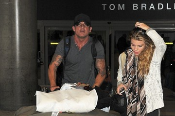 Dominic Purcell AnnaLynne McCord and Dominic Purcell at LAX