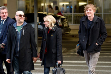 Christian Dunst Kirsten Dunst and Brother at LAX