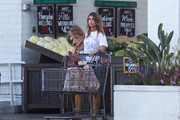 Elisabetta Canalis and her daughter Skyler are seen in Los Angeles, California.