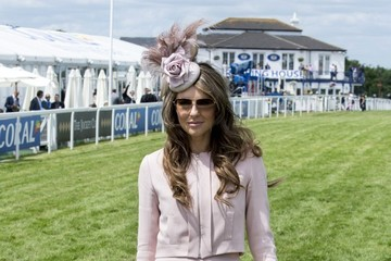 Elizabeth Hurley Royals Attend the Investec Epsom Derby 2015