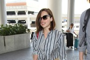 Emilia Clarke is seen at LAX