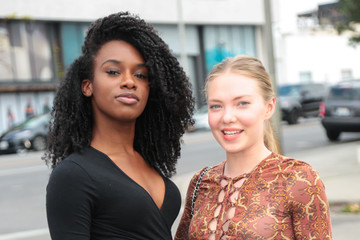Emilia McCarthy Jasmine Renee Thomas and Emilia McCarthy Are Seen Outside Impressions Vanity in West Hollywood