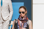 Emily Blunt Spends Time Out in the Sun