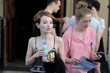 Emily Browning Scenes from the 'Legend' Set