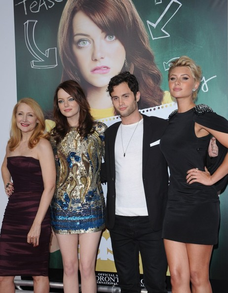 "Emma Stone and Penn Badgley - ""Easy A"" Premiere. ""Easy A"" Premiere"