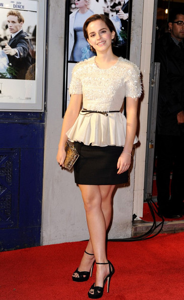 Emma Watson 'My Week with Marilyn' premiere held at Cineworld Cinemas.