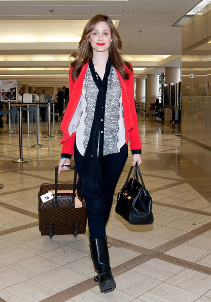 Emmy Rossum - Emmy Rossum at the Airport in LA
