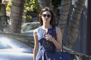 Emmy Rossum Shops in a Cute Floral Outfit
