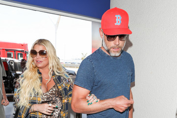 Eric Johnson Jessica Simpson And Eric Johnson At LAX