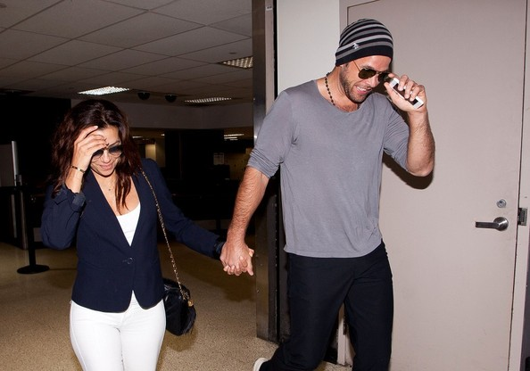 Eva Longoria and Her Boyfriend Arrive in LA