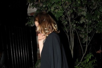 Eva Herzigova Celebs Arrive at Chiltern Firehouse