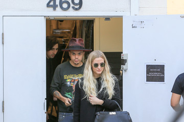 Evan Ross Ashlee Simpson and Evan Ross Out in Beverly Hills