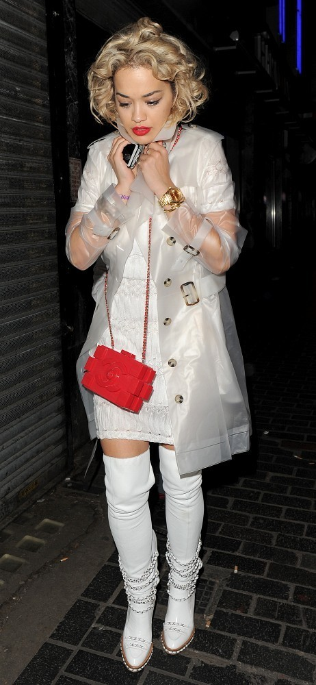 1st May, 2013: Rita Ora leaving the Box Night Club Soho London where she was a guest at Fran Cutler's 50th birthday party.