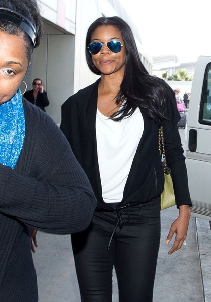 Gabrielle Union is spotted at Los Angeles International Airport.
