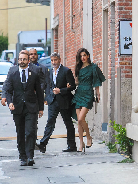 George Clooney And Amal Clooney At 'Jimmy Kimmel Live'