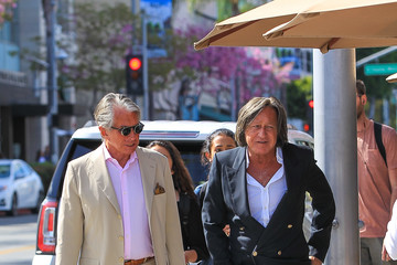 George Hamilton George Hamilton and Mohamed Hadid Spotted in Beverly Hills