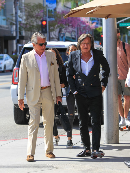 George Hamilton and Mohamed Hadid Spotted in Beverly Hills