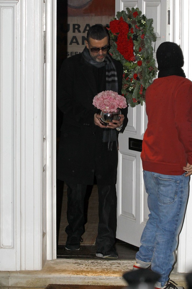 george michael at home in london zimbio