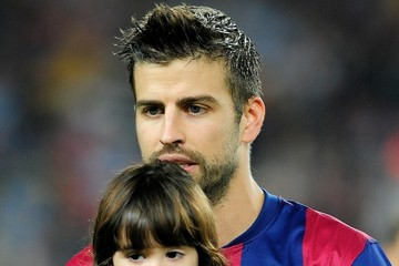 Gerard Pique Shakira and Milan Watch Gerard Play Soccer