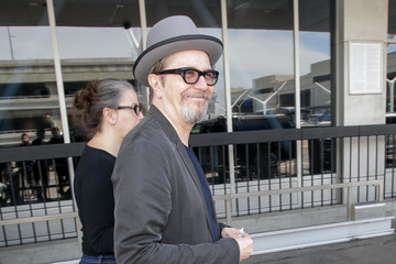 Gisele Schmidt Gary Oldman And Wife Gisele Schmidt Are Seen At LAX