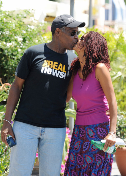 Danny Glover's affectionate stroll