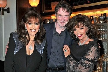 Joan Collins Bill Collins Johnny Gold's 80th Birthday Party