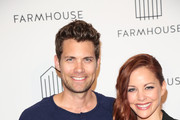 Amy Paffrath and Drew Seeley are seen attending Grand Opening of Farmhouse at The Beverly Center in Los Angeles, California.