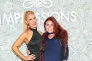 Gretchen Rossi and Ali Levine are seen attending the Gretchen Christine x Impressions Vanity PopUpParty at Impressions Vanity in West Hollywood in Los Angeles, California.