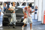 Hailey Baldwin and Justin Bieber are seen in Los Angeles, California.