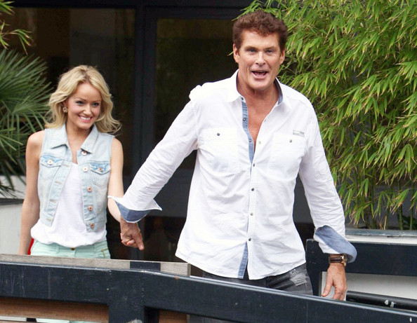 David Hasselhoff And Hayley Are Feeling Playful