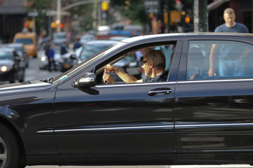 Harvey Keitel Harvey Keitel Drives in NYC
