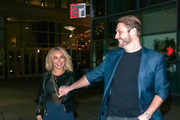 Hayden Panettiere And Brian Hickerson Outside ArcLight Theatre