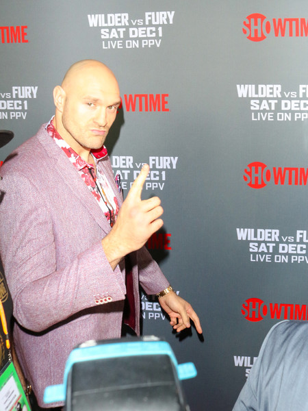 Tyson Fury At 'Fury vs. Wilder' Fight At The Staples Center