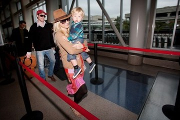 Atlas Heche Tupper Anne Heche and Family at LAX