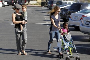 Heidi Rhoades Jillian Michaels Out with Her Family in Malibu