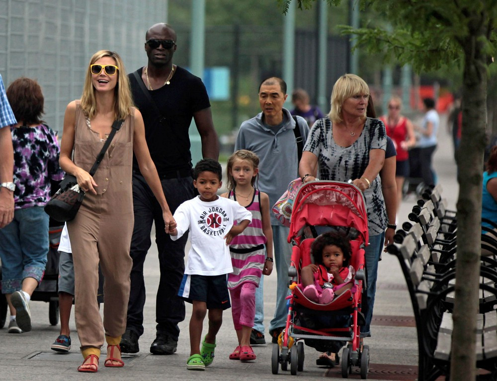 Singer Seals ExWife Heidi Klum and Their Kids Together