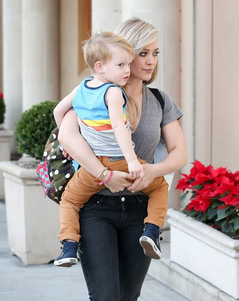 Hilary Duff and Luca Out and About - Zimbio