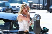 Hilary Duff at the meter