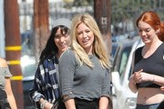 Hilary Duff is seen on the set of her latest music video.