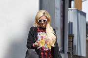 Holly Madison out and about..