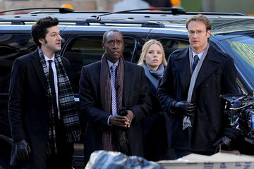 Don Cheadle Josh Lawson Celebs Film 'House of Lies' in NY