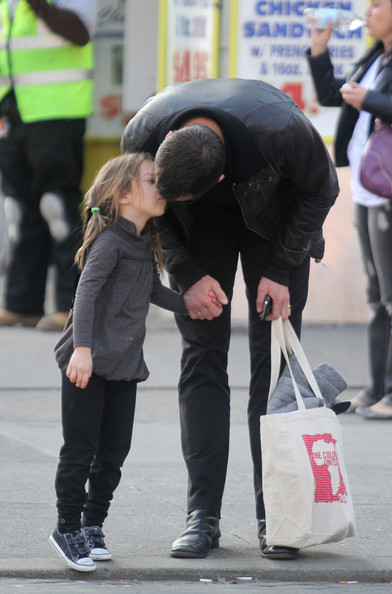 Hugh Jackman Actor Hugh Jackman gets a kiss from daughter Ava (b.