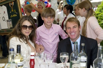 Damian Hurley Hurley attend the charity cricket match