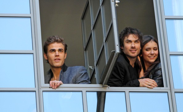 Ian somerhalder and paul wesley the cast of the vire diaries