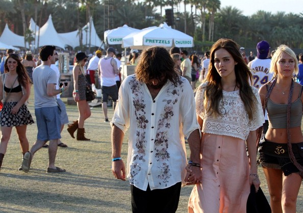 Angus+Stone in Isabel Lucas and Angus Stone at Coachella