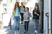 Isla Fisher out and about