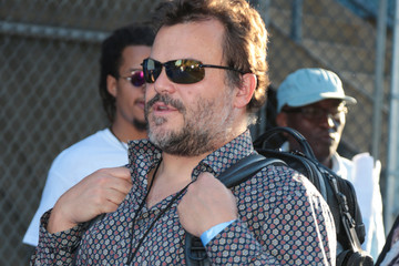 Jack Black Jack Black Spotted Outside Dodger Stadium