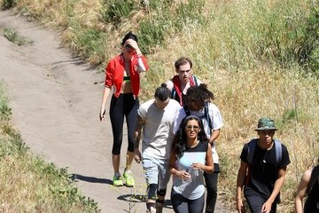 Jaden Smith Kendall Jenner Hikes with Jaden Smith and Friends