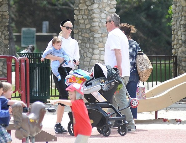 Jaime King and Family at the Park
